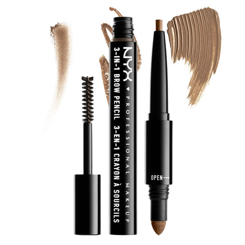 NYX Professional Makeup 3-In-1 Brow Pencil - Brunette