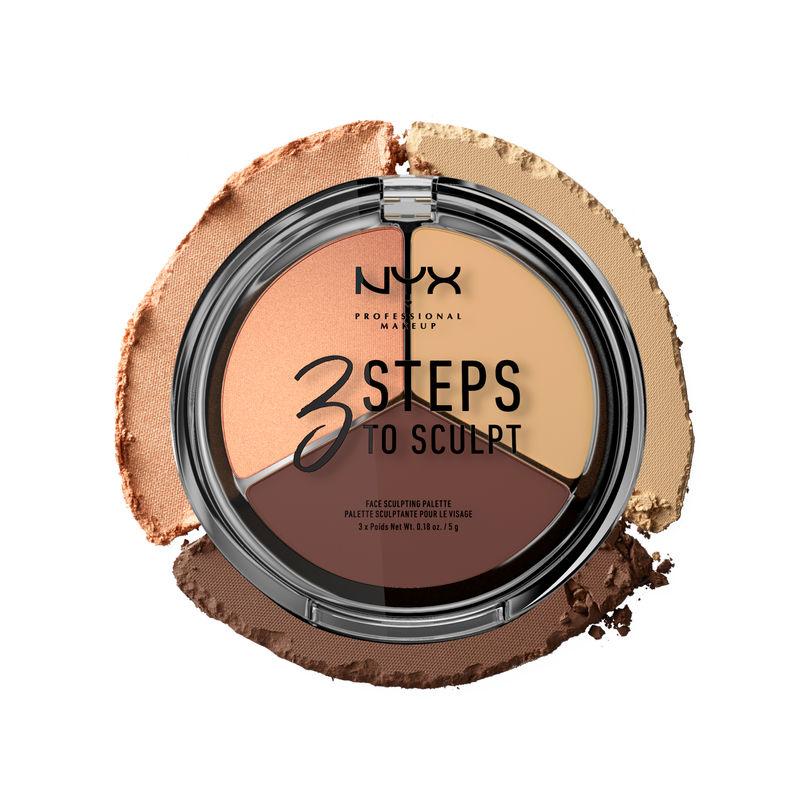 NYX Professional Makeup 3 Steps To Sculpt Face Sculpting Palette - 03 Medium