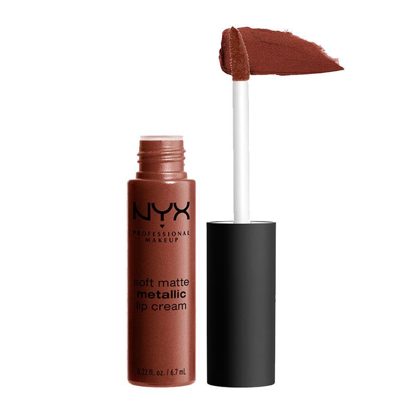 NYX Professional Makeup Soft Matte Metallic Lip Cream - Dubai