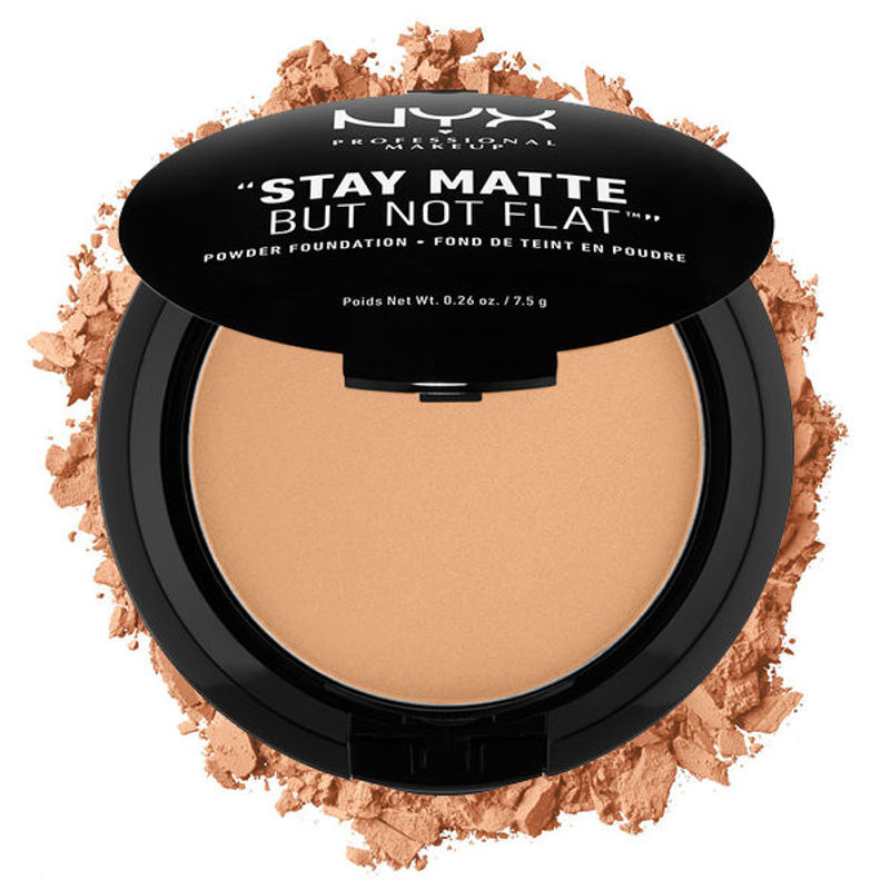 NYX Professional Makeup Stay Matte But Not Flat Powder Foundation - 10 Caramel