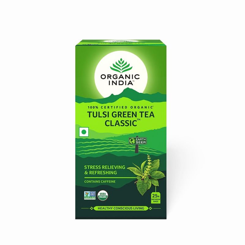 Organic India Tulsi Green Tea Classic Bags