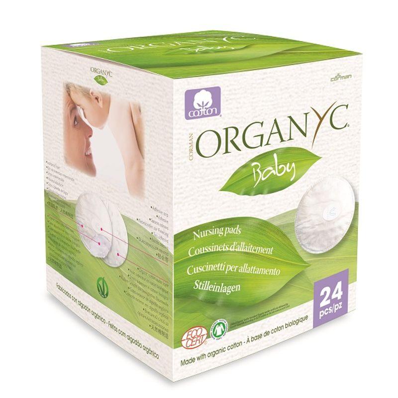 Organyc 100% Organic Cotton Baby Nursing Pads - 24 Pads
