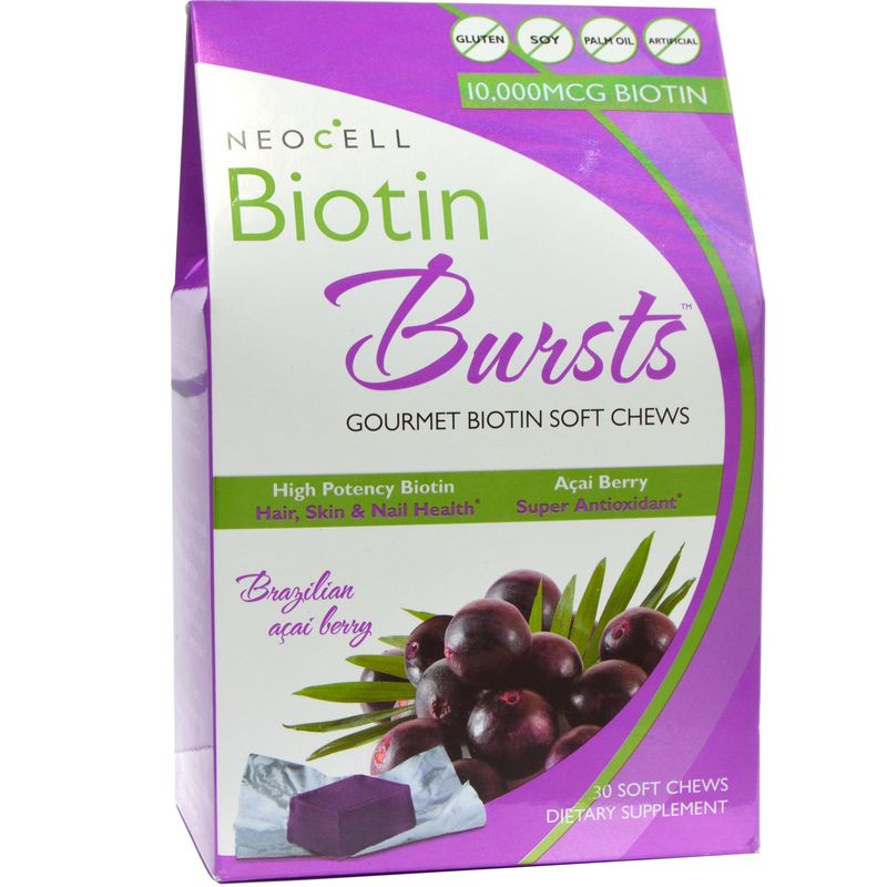 GNC Neocell Biotine Bursts Brazilian Acai Berry (30 Soft Chews)