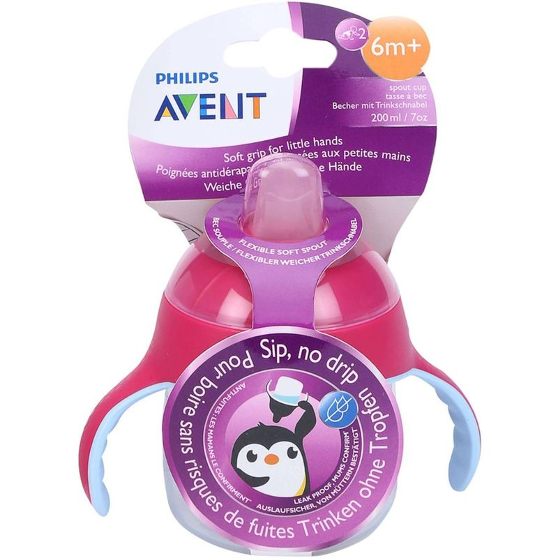 Philips Avent Premium Soft Spout Cup - Pink - Single Pack