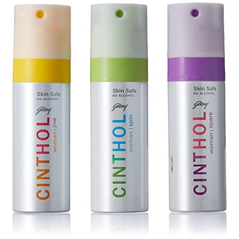Cinthol Women's Spin, Spark & Deo Spray (Buy 2 Get 1 Free)