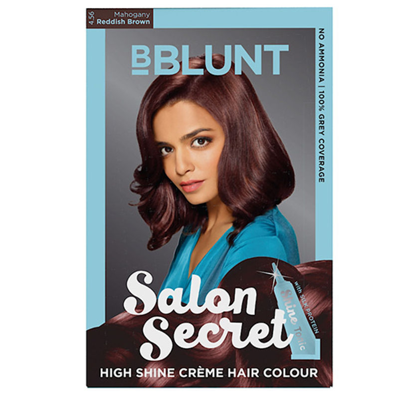 BBLUNT Salon Secret High Shine Creme Hair Colour - Mahogany Reddish Brown 4.56