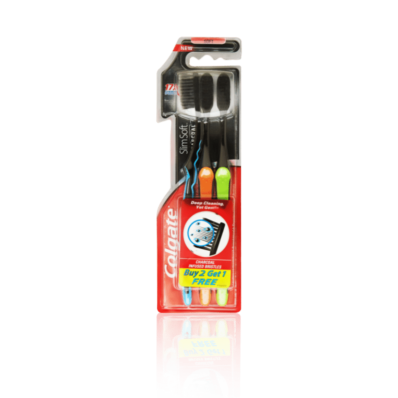 Colgate Slim Soft Charcoal Toothbrush Buy 2 Get 1 Free