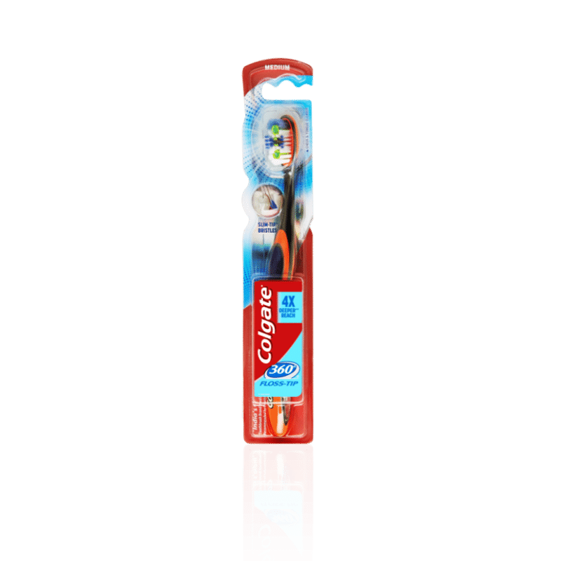 Colgate 360 Floss Tip Toothbrush - Medium