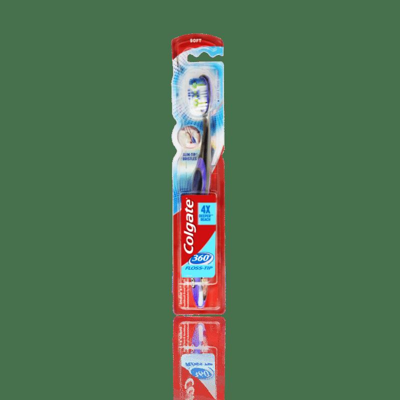 Colgate 360 Floss-Tip Toothbrush - Soft