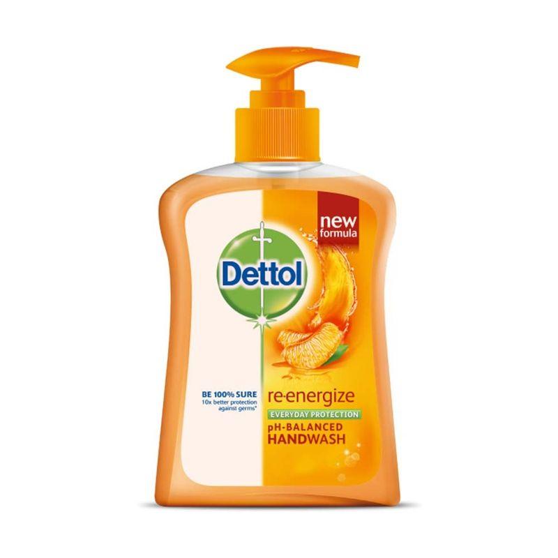 Dettol Re-energize Liquid Handwash Pump (200 Ml) With Free Refill Liquid Handwash (175 Ml)