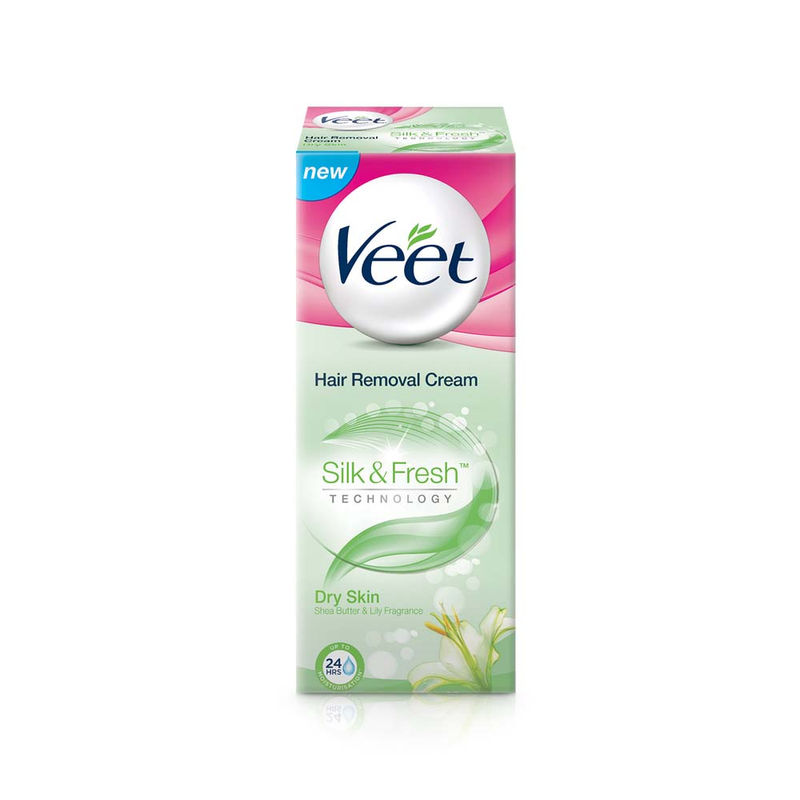 Veet Silk & Fresh Hair Removal Cream, Dry Skin
