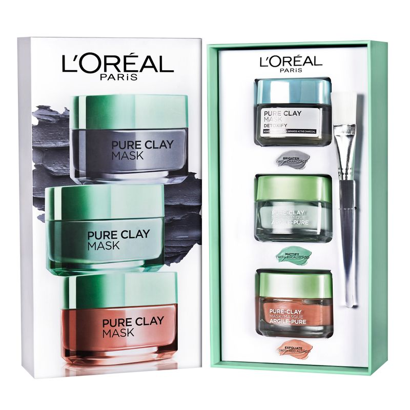 L'Oreal Paris Pure Clay Masks - Gift Set (Pack Of 3)