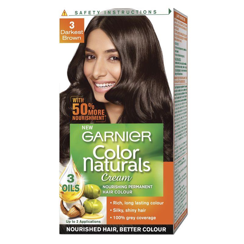 Garnier Color Naturals Unidose Darkest Brown 50 Extra Free
