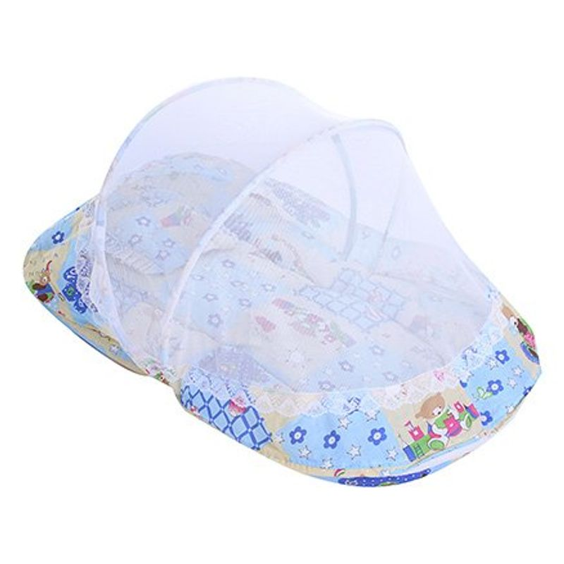 Littles Bassinet Honey Bear Print - Blue