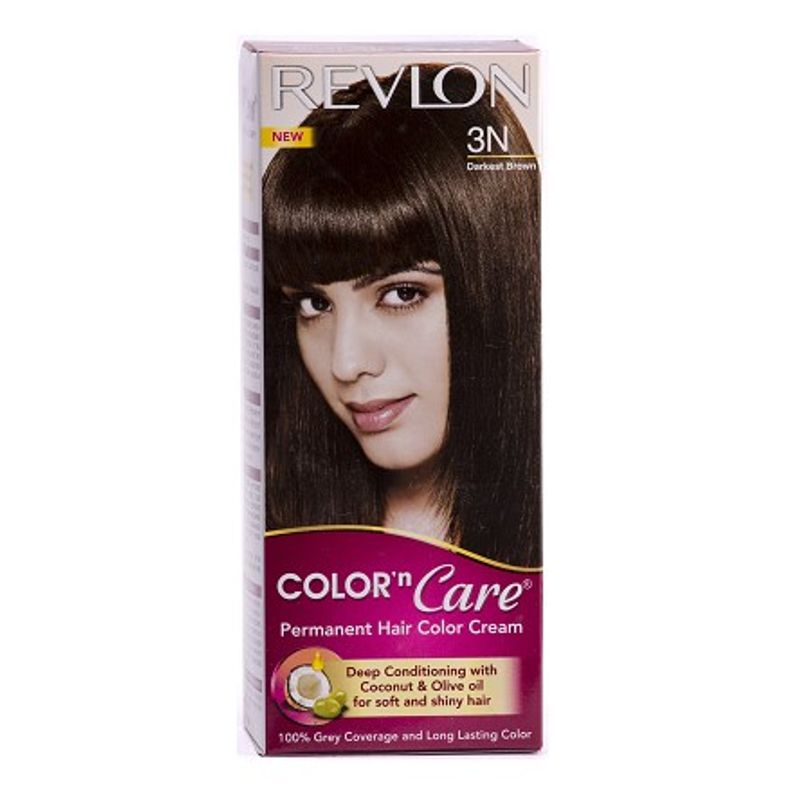 Revlon Color N Care Permanent Hair Color Cream - Darkest Brown 3N (Rs 25 Off)