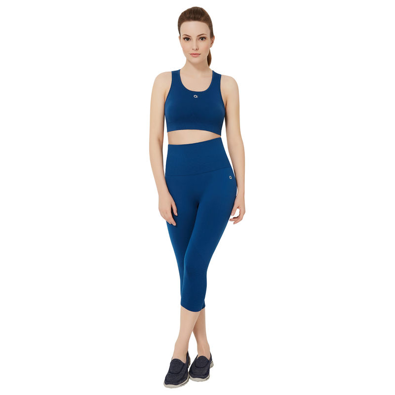ecd9fd38cd Amante Blue Non-Padded Non-Wired Reversible Sports Bra at Nykaa.Com