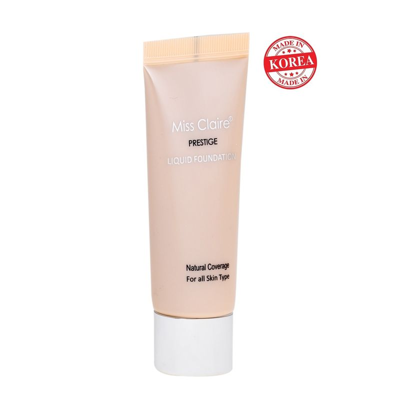 Miss Claire Prestige Natural Coverage Liquid Foundation (Natural Beige) - 21
