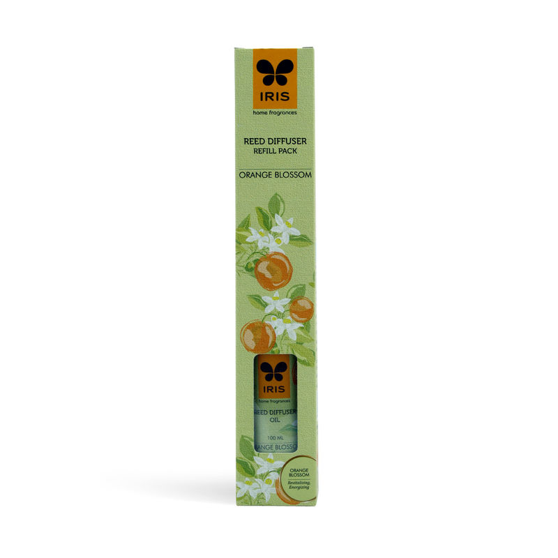 Iris Reed Diffuser Refill Pack With 16 Sticks (100ml) - Orange Blossom