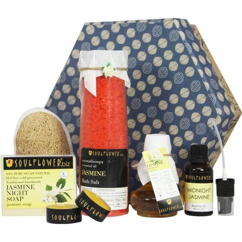 Soulflower Jasmine Hexagon Bath Giftset