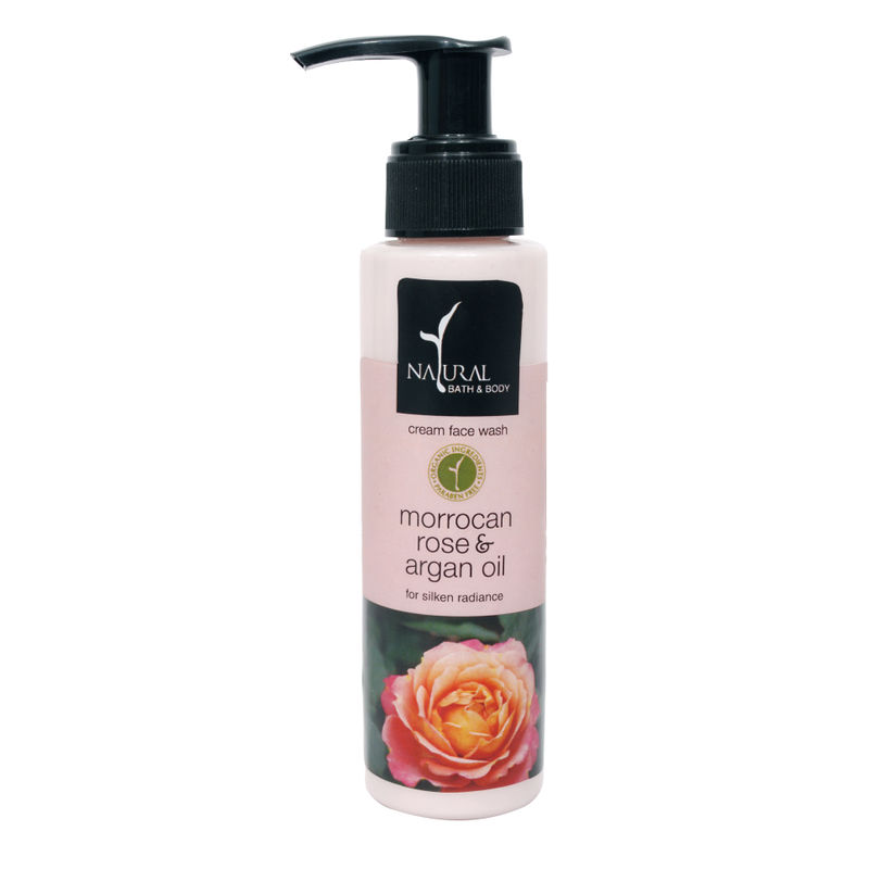 Natural Bath & Body Morrocan Rose Argan Oil Cream Face Wash