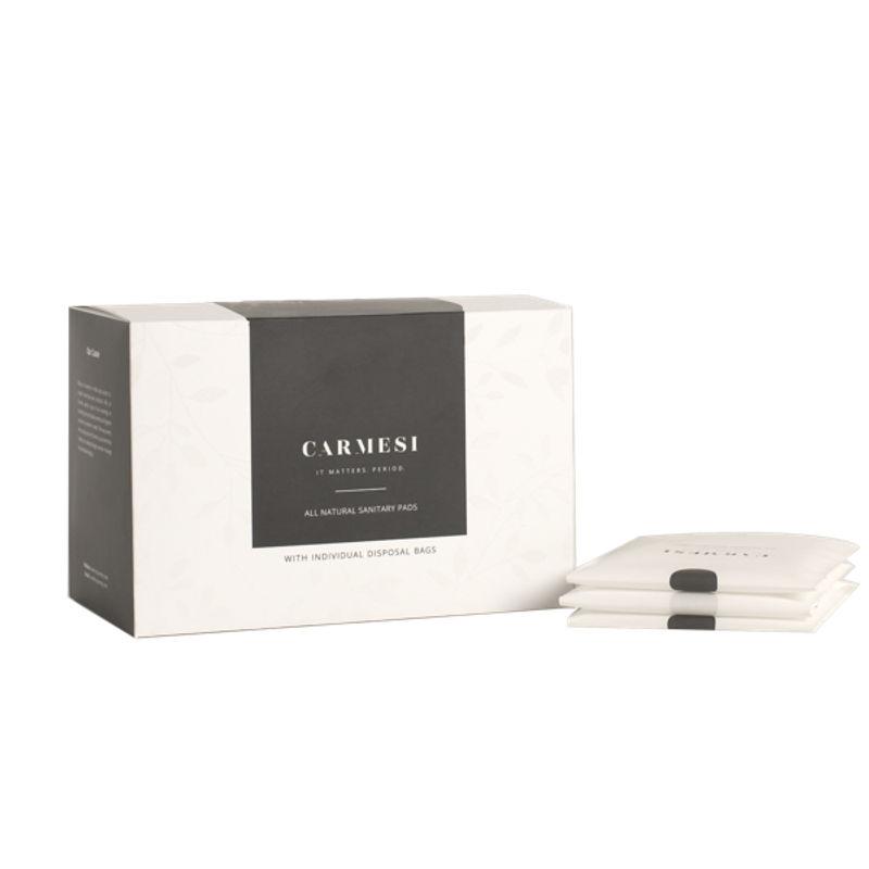 Carmesi All Natural Sanitary Pads - 15 Regular + 15 XL