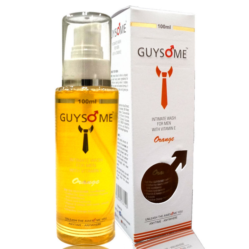 Guysome Orange Intimate Wash For Men With Extracts Of Vitamin E And Sea Buckthorn