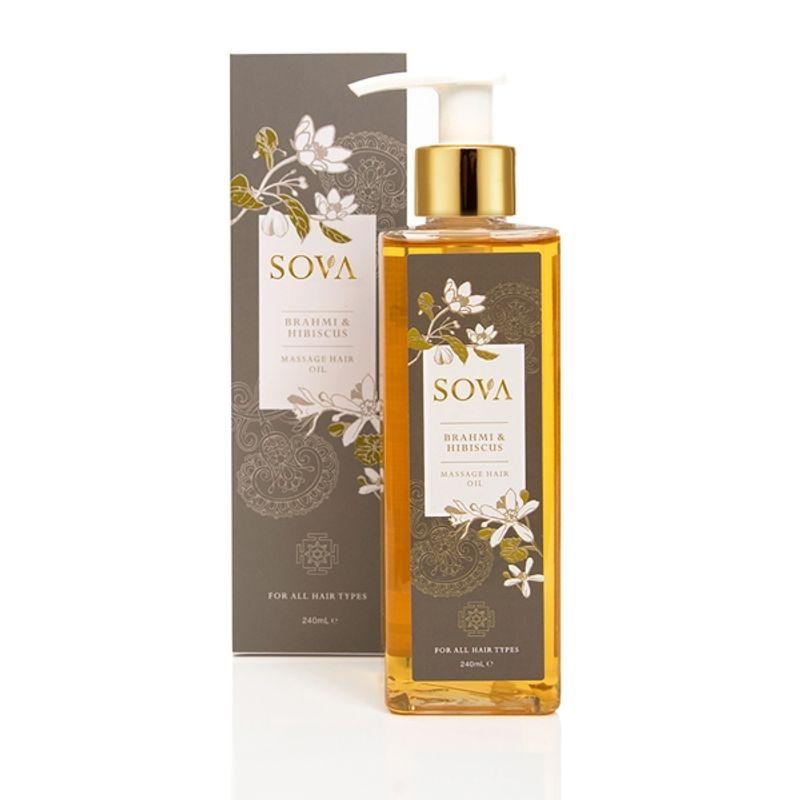 SOVA Brahmi & Hibiscus Hair Massage Oil For All Hair