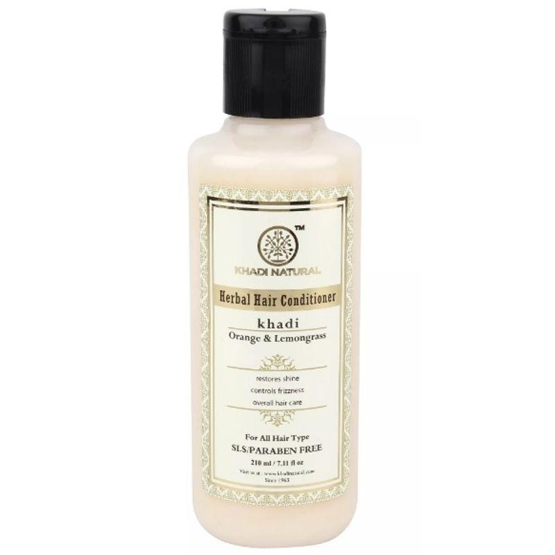 Khadi Natural Orange & Lemongrass Herbal Hair Conditioner - SLS & Paraben Free