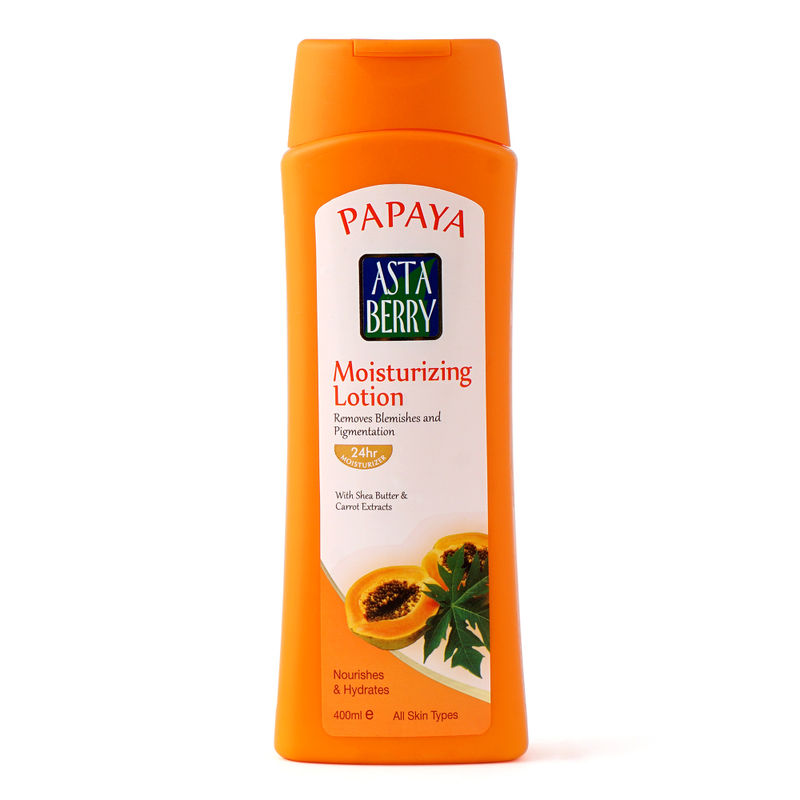 Astaberry Papaya Moisturizing Lotion - (Each 400 Ml) Pack Of 2 Save Rs. 230