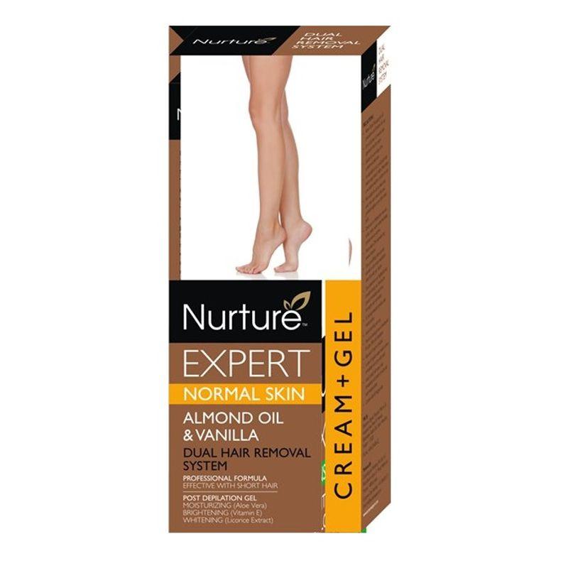 Nurture Expert Almond Oil & Vanilla Oil Hair Removal Cream + Gel - Normal Skin