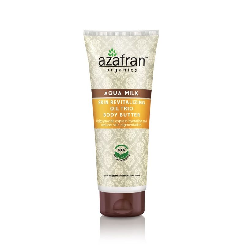 Azafran Organics Aqua Milk Skin Revitalizing Oil Trio Body Butter - 8906037361546