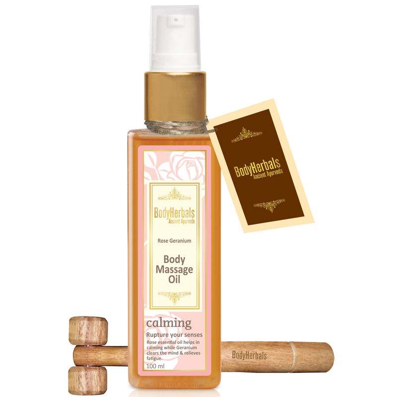 BodyHerbals Rose Geranium Body Massage Oil
