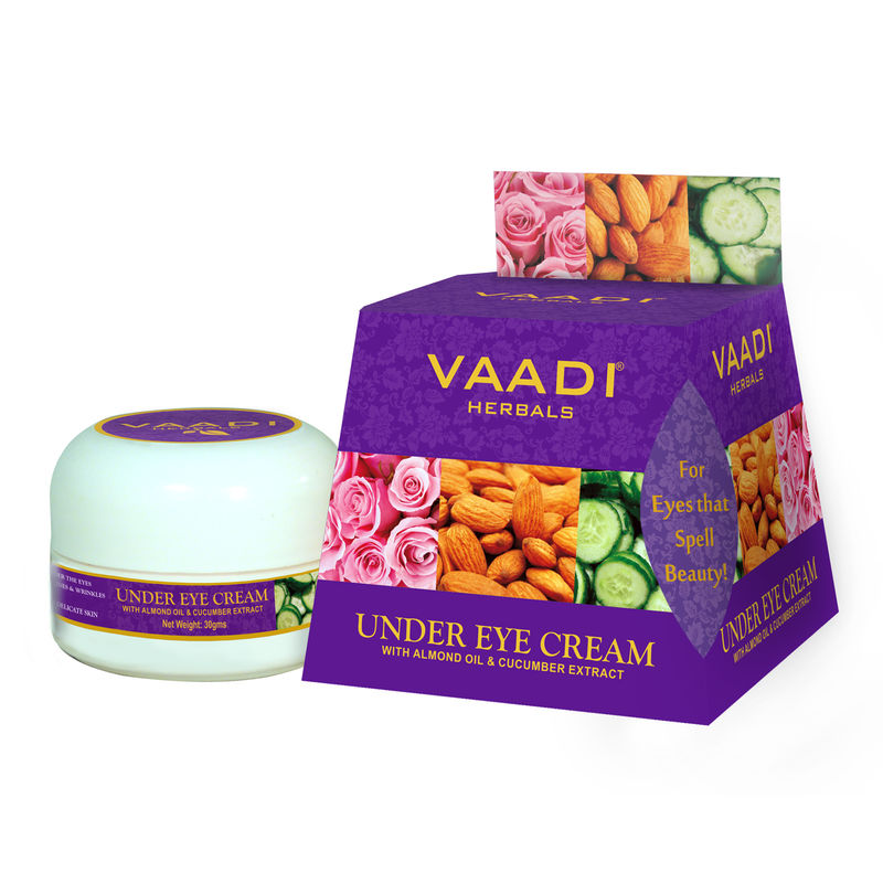 Vaadi Herbals Under Eye Cream - Almond Oil & Cucumber Extract