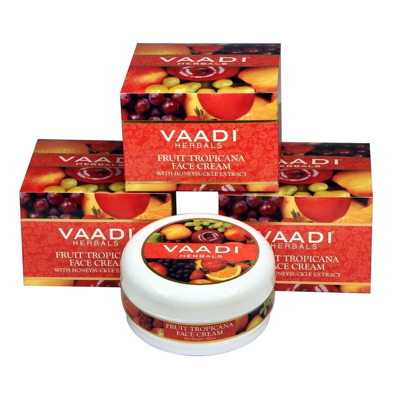 Vaadi Herbals Value Pack Of 3 Fruit Tropicana Face Cream With Honeysuckle Extract