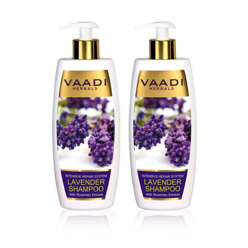 Vaadi Herbals Lavender Shampoo With Rosemary Extract (Pack Of 2)