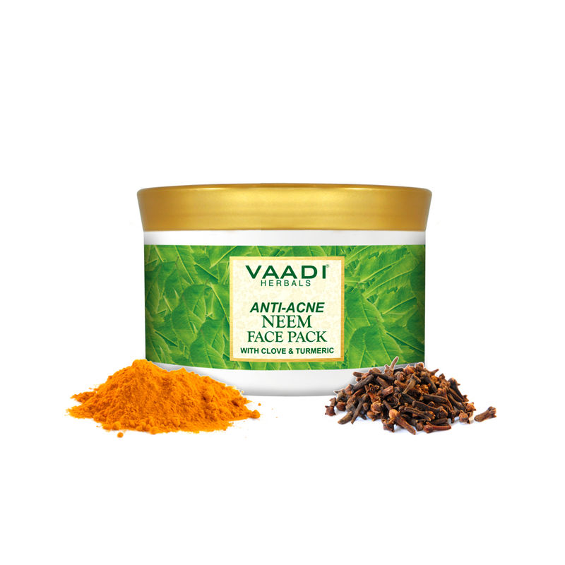 Vaadi Herbals Anti Acne Neem Face Pack With Clove And Turmeric