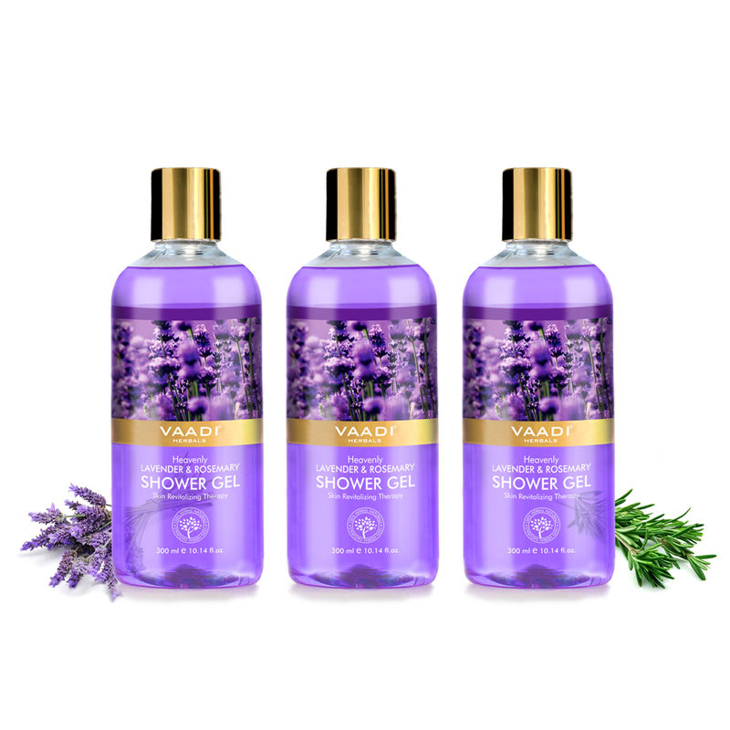 Vaadi Herbals Heavenly Lavender & Rosemary Shower Gel (Pack Of 3)