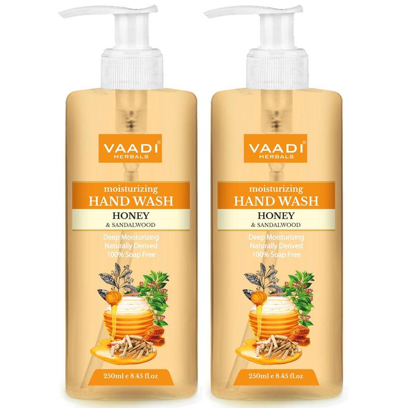 Vaadi Herbals Deep Moisturizing Honey & Sandal Hand Wash - Pack Of 2