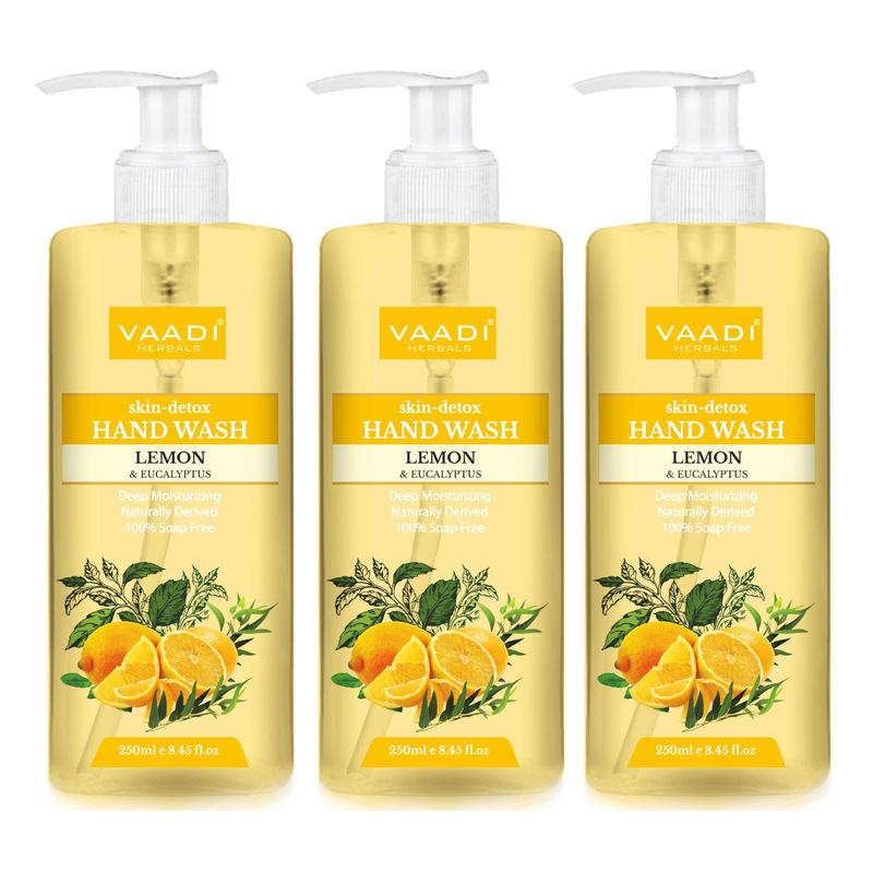 Vaadi Herbals Skin - Detox Lemon & Eucalyptus Hand Wash - Pack Of 3