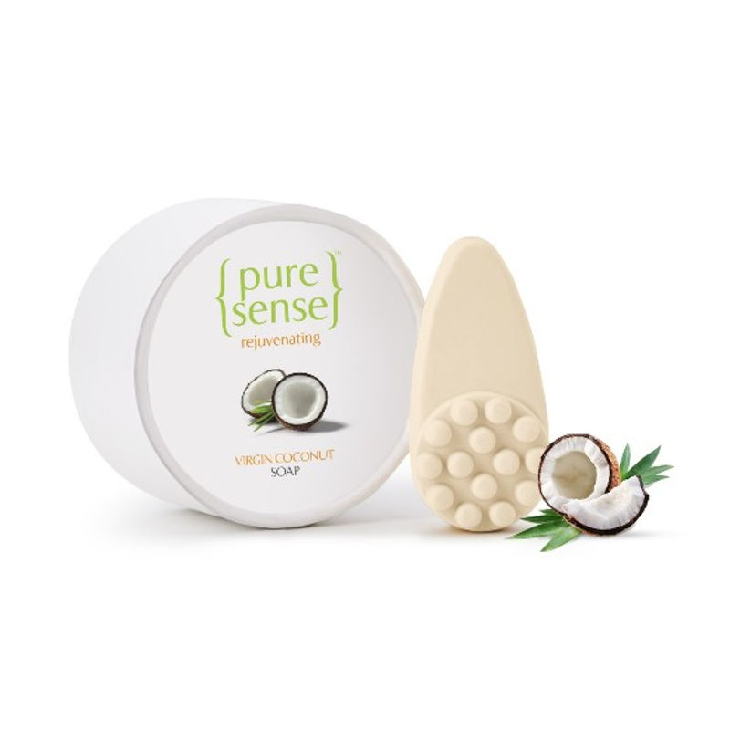 PureSense Rejuvenating Virgin Coconut Soap - Sulphate And Paraben Free