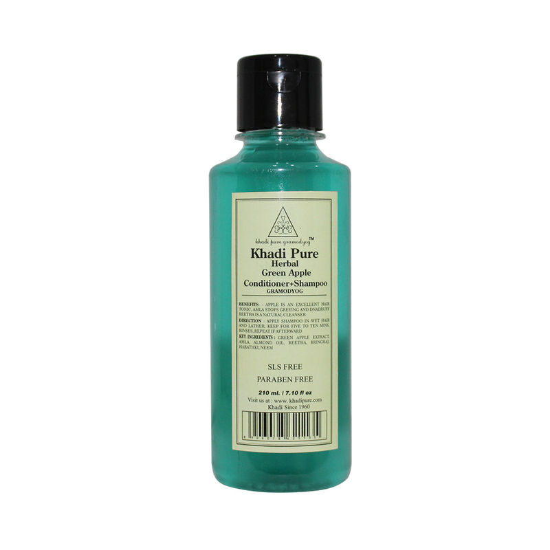Khadi Pure Herbal Green Apple Shampoo + Conditioner