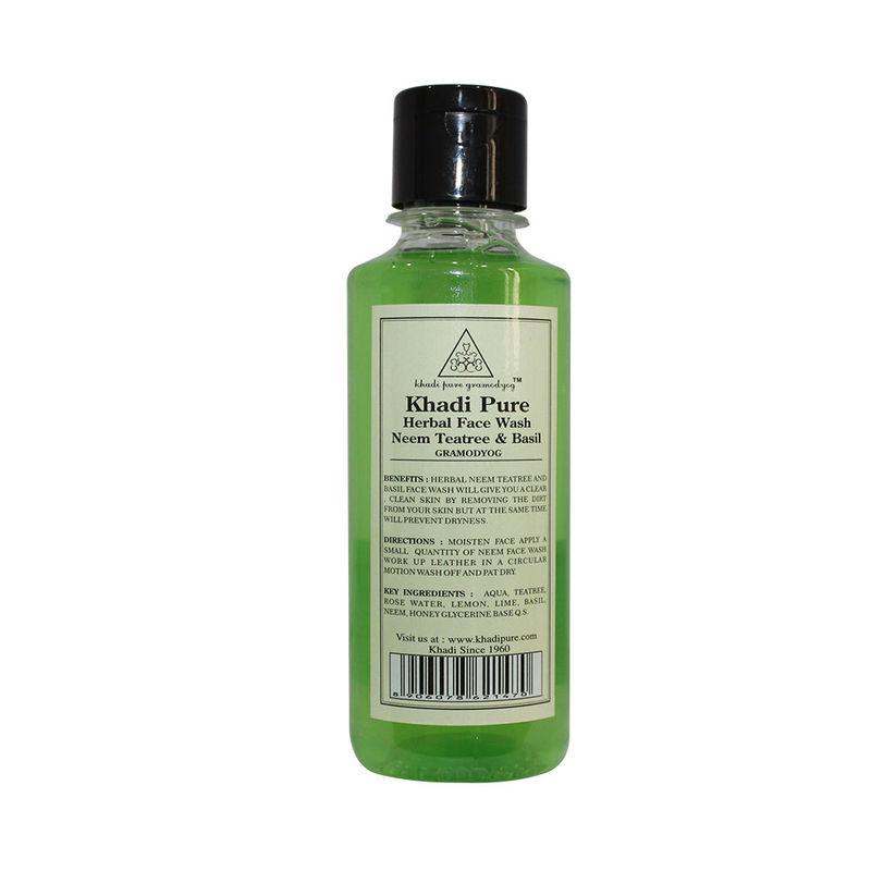 Khadi Pure Herbal Neem, Teatree & Basil Face Wash