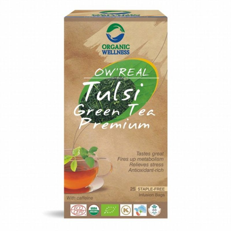 Organic Wellness Real Tulsi Green Tea Premium