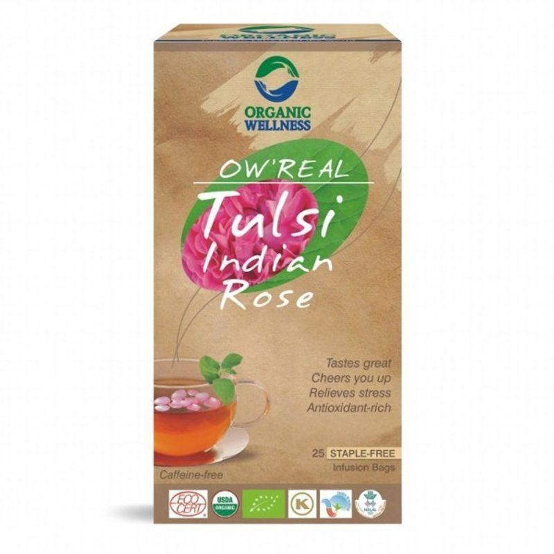 Organic Wellness Real Tulsi Indian Rose Tea