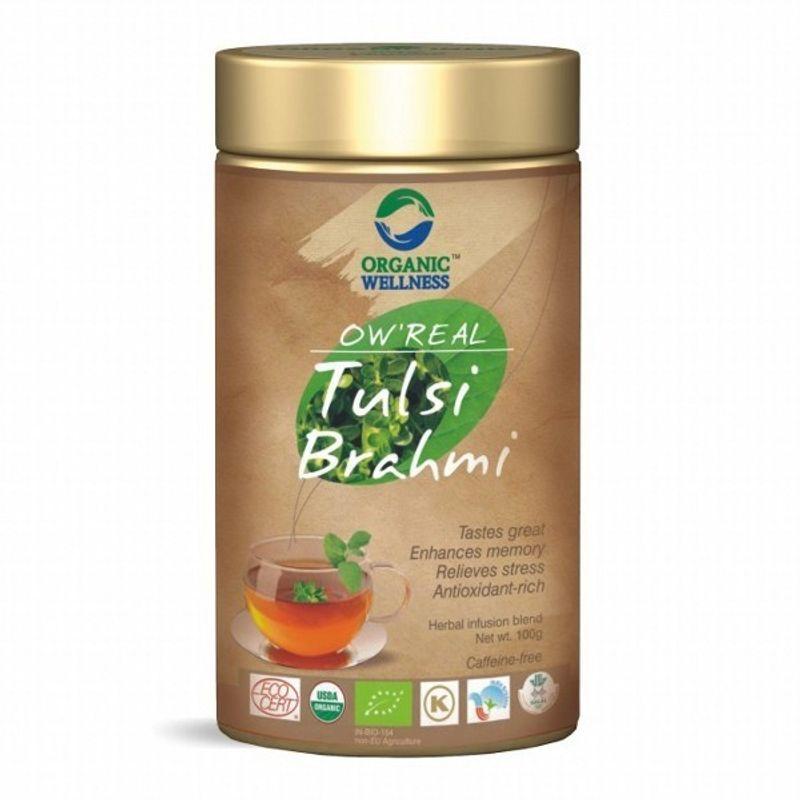 Organic Wellness Real Tulsi Brahmi Tea Tin