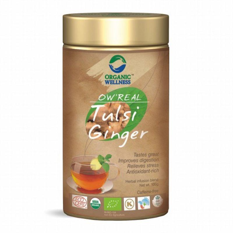 Organic Wellness Real Tulsi Ginger Tea Tin