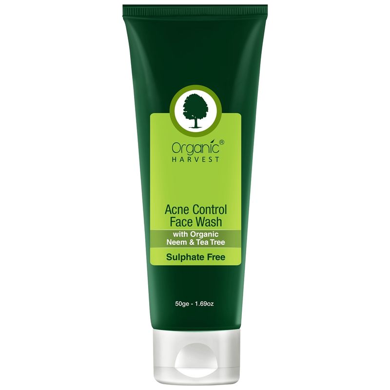 Organic Harvest Sulphate Free Acne Control Face Wash With Organic Neem & Tea Tree