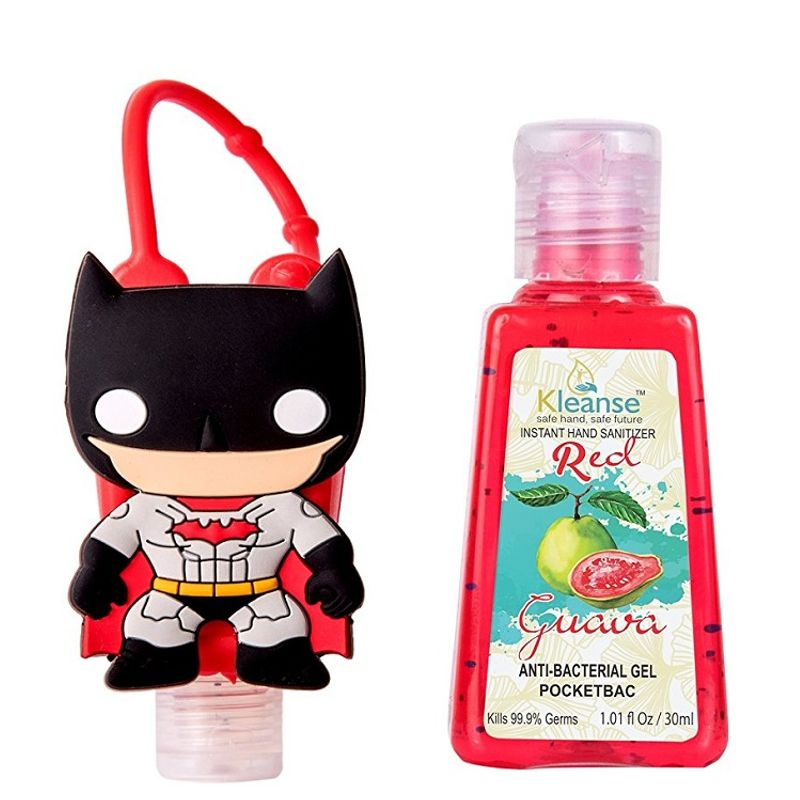 Kleanse Red Guava Instant Hand Sanitizer With Batman Designer Holder