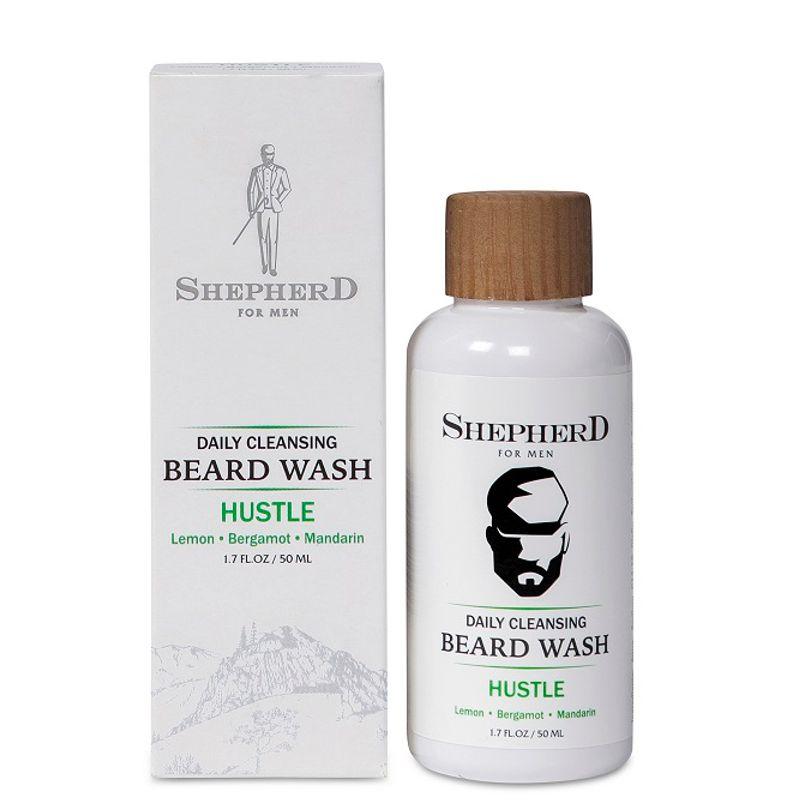 Shepherd For Men Daily Cleansing Beard Wash - Hustle