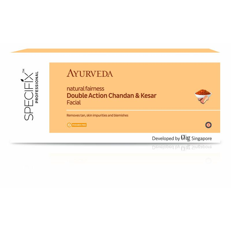 Specifix Professional Ayurveda Natural Fairness Double Action Chandan & Keasar Facial Kit